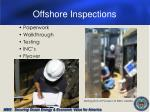 offshore inspections