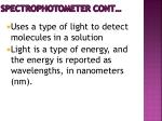 spectrophotometer cont