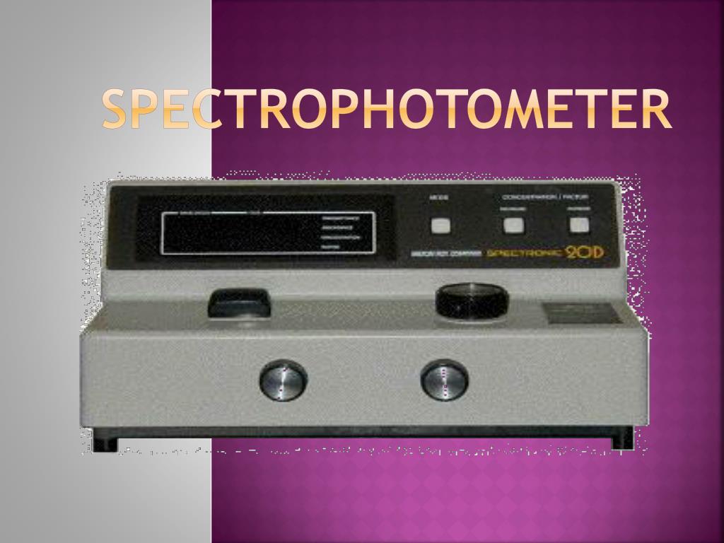 spectrophotometer l.