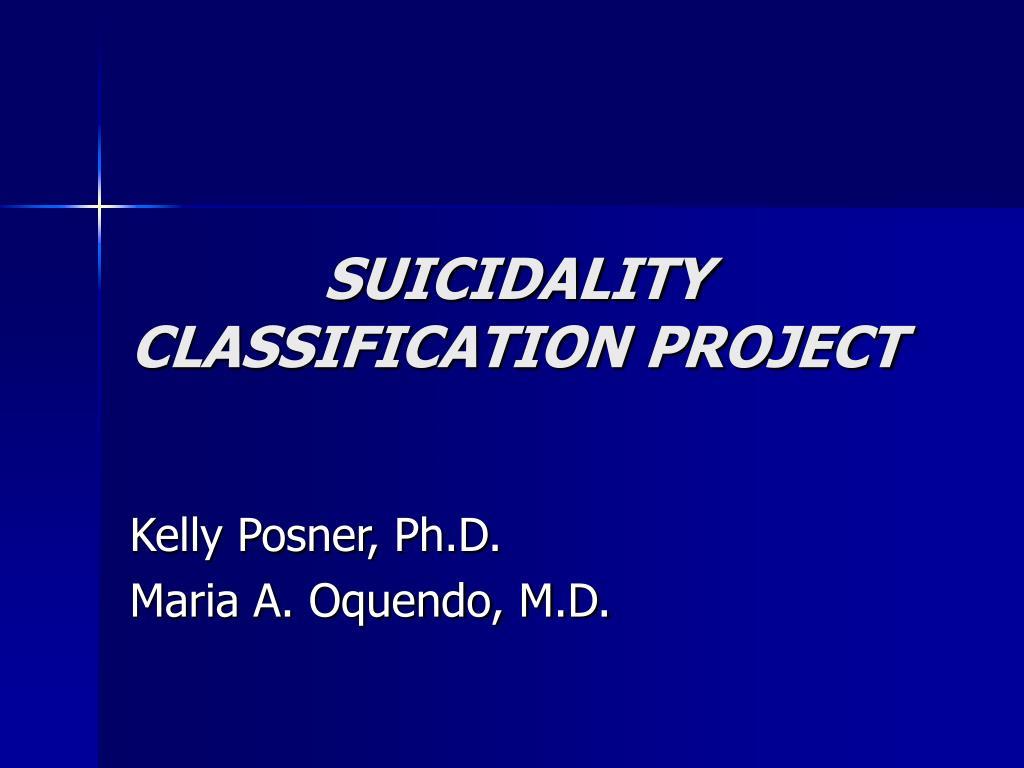 suicidality classification project l.