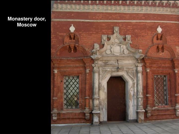 Monastery door,