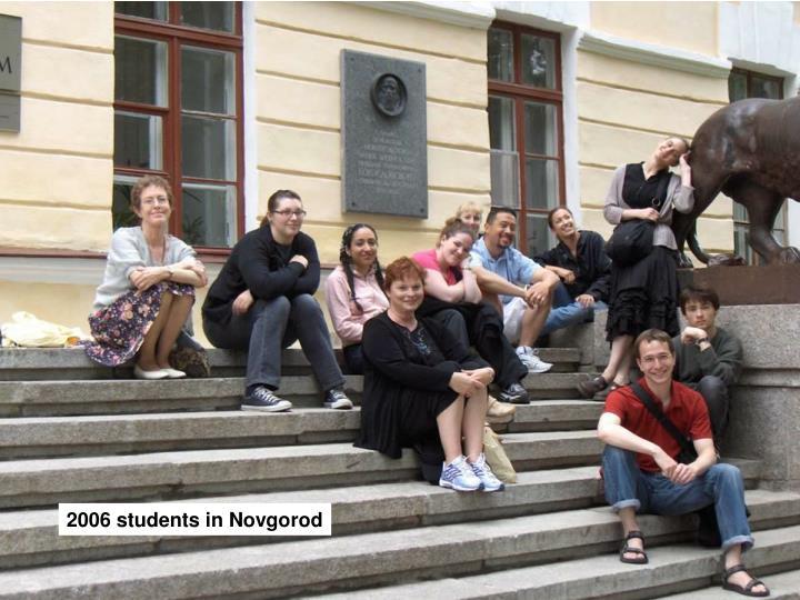 2006 students in Novgorod