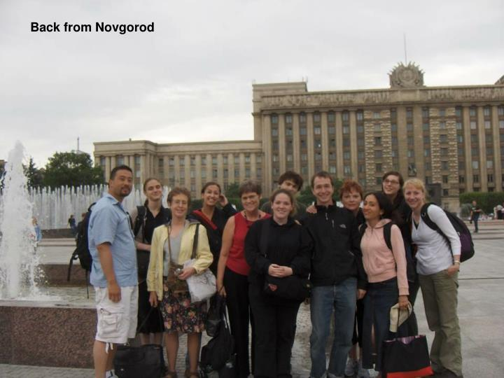 Back from Novgorod