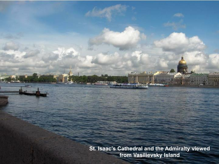 St. Isaac's Cathedral and the Admiralty viewed