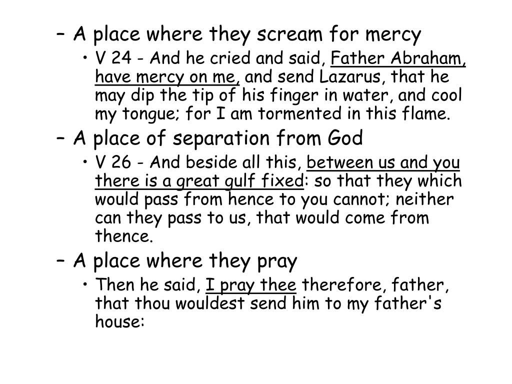 A place where they scream for mercy