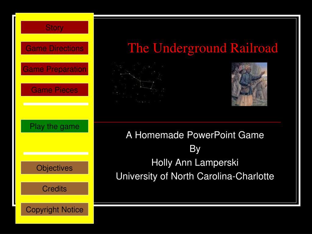 the underground railroad l.