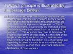1 which principle is illustrated by the passage below