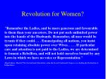 revolution for women