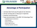 advantage of participation