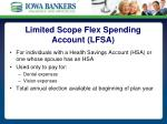 limited scope flex spending account lfsa
