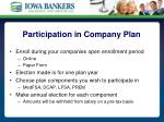 participation in company plan
