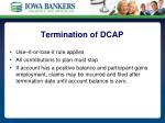 termination of dcap