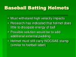baseball batting helmets