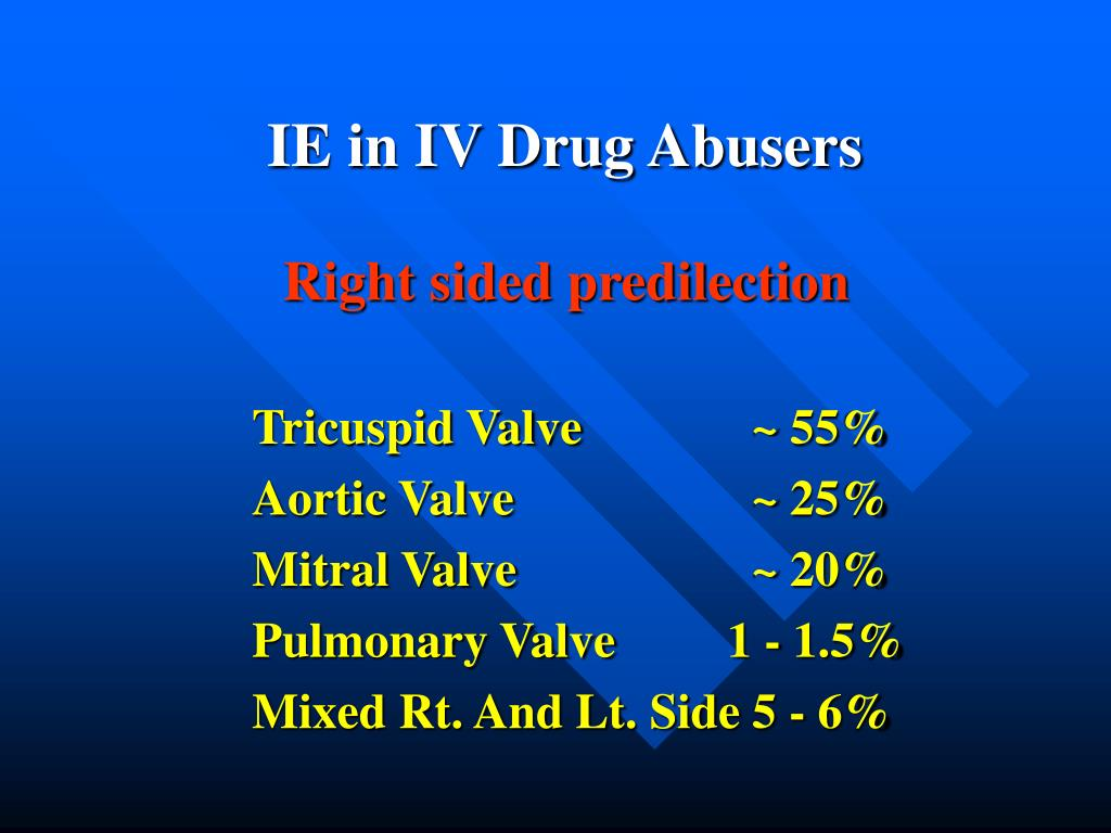IE in IV Drug Abusers