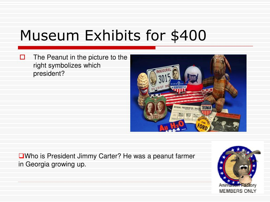Museum Exhibits for $400