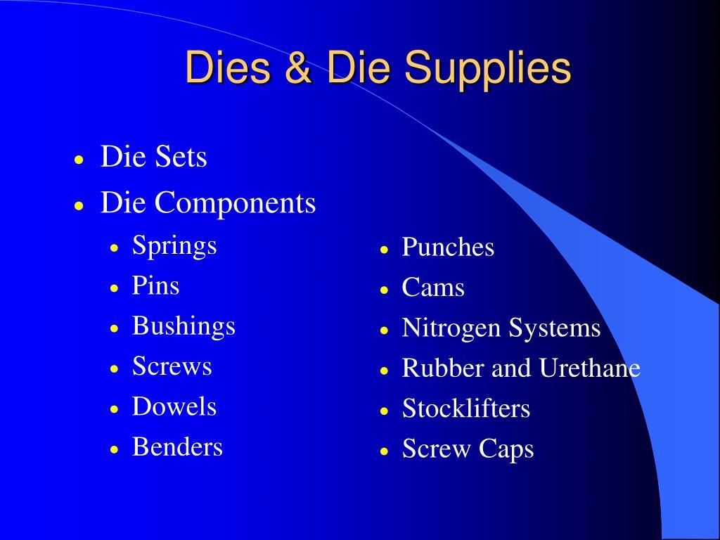Dies & Die Supplies