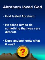 abraham loved god