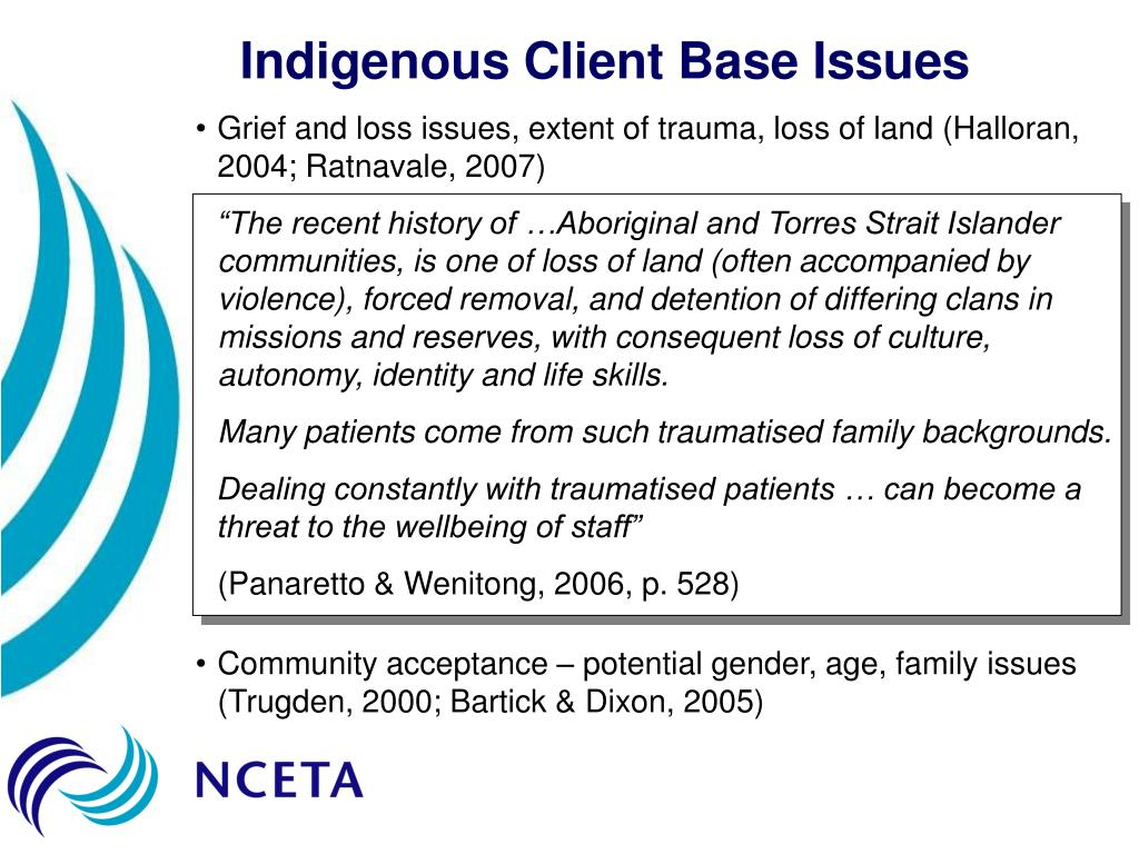 Indigenous Client Base Issues