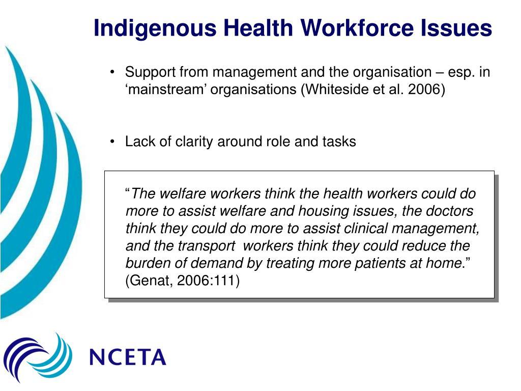 Indigenous Health Workforce Issues