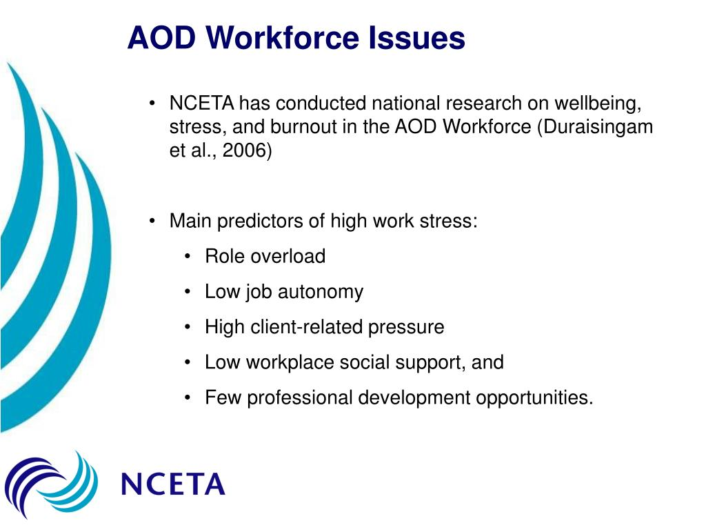 AOD Workforce Issues