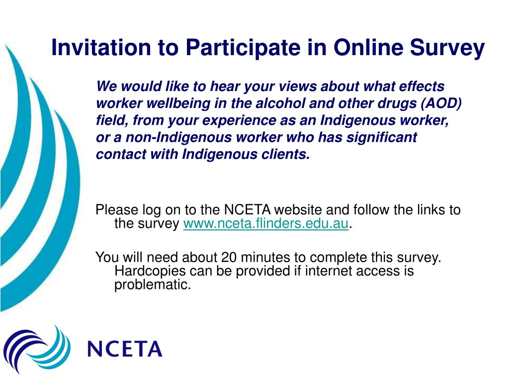 Invitation to Participate in Online Survey