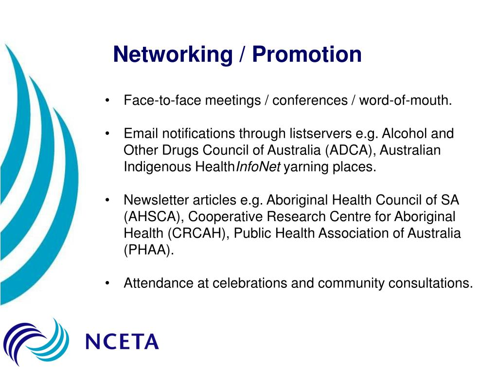 Networking / Promotion
