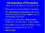 abomination of desolation matt 24 15 16 mark 13 14 luke 21 20