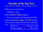 parable of the fig tree matt 24 32 33 mark 13 28 29 luke 21 29 31