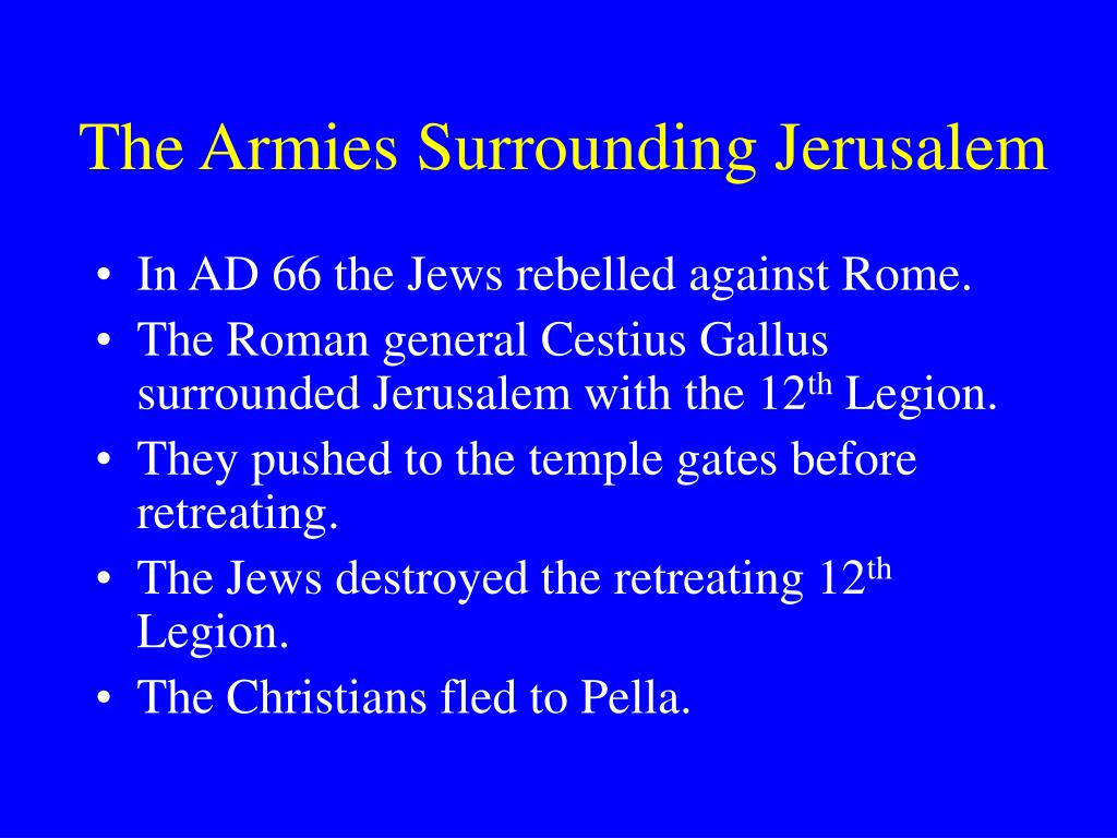 The Armies Surrounding Jerusalem