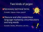 two kinds of jargon