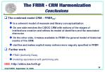 the frbr crm harmonization conclusions