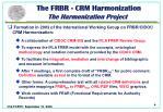 the frbr crm harmonization the harmonization project