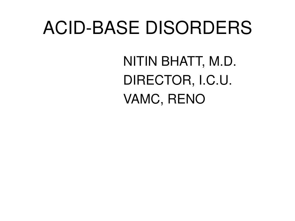 acid base disorders l.