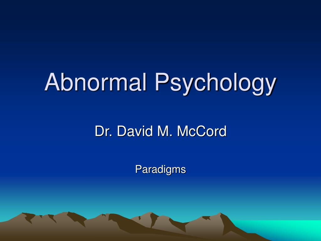 abnormal psychology l.