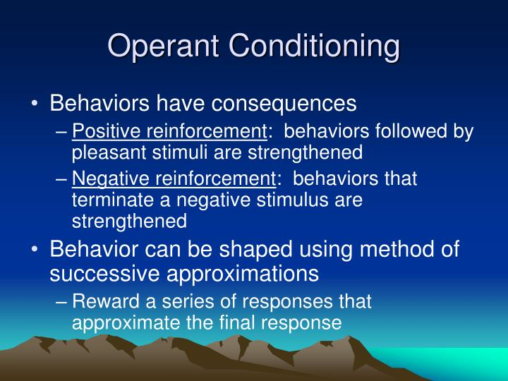 coulrophobia understanding operant conditioning Operant conditioning (also called instrumental conditioning) is a learning process through which the strength of a behavior is modified by reinforcement or punishment.