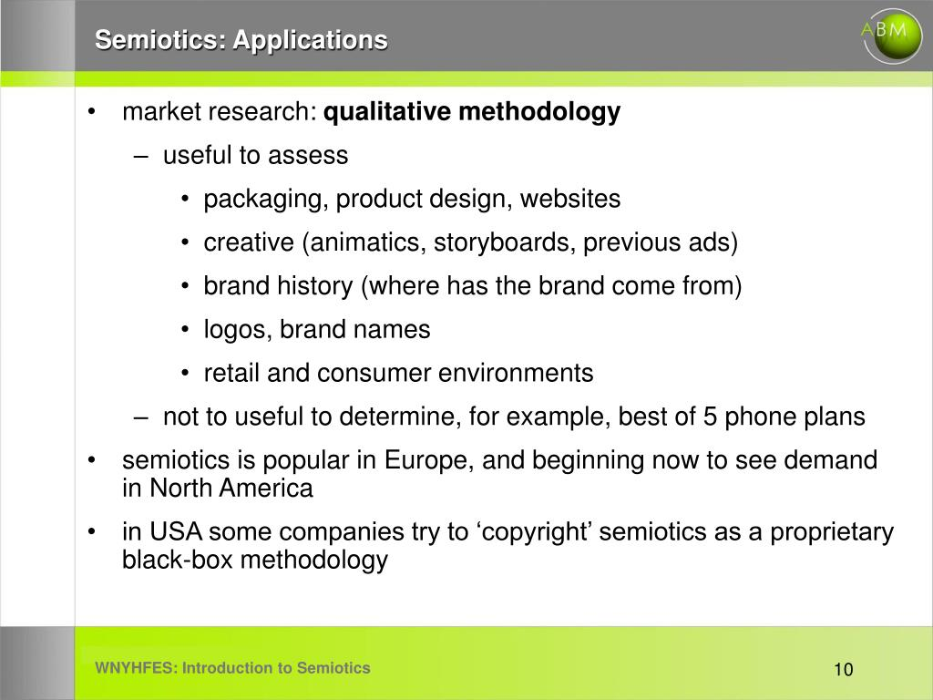 Semiotics: Applications
