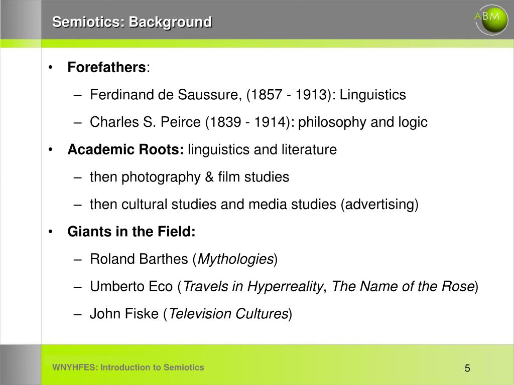Semiotics: Background