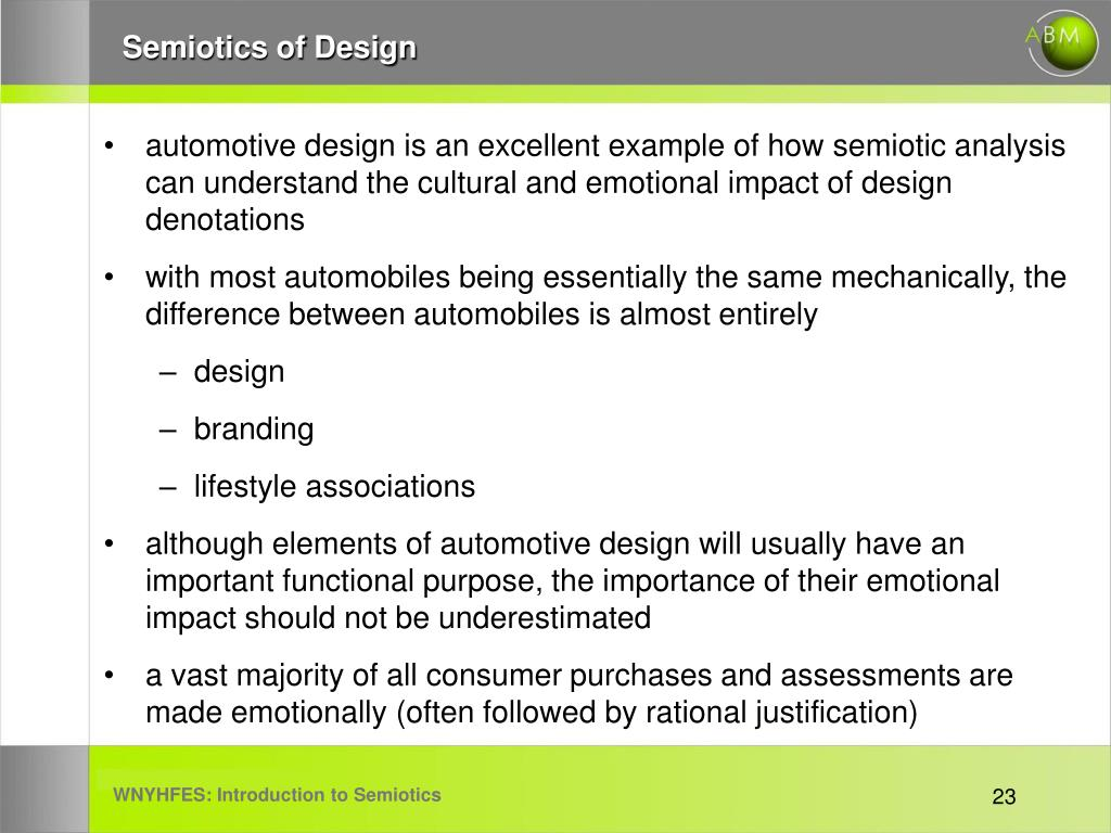 Semiotics of Design