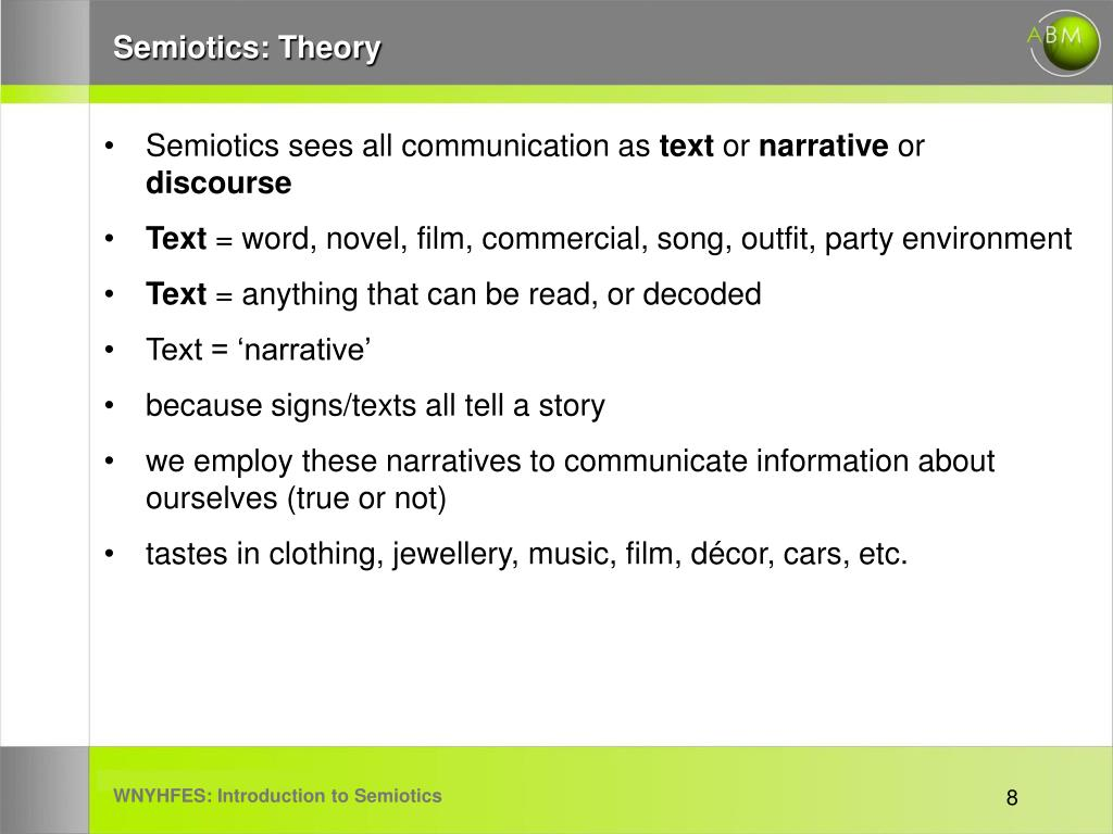 Semiotics: Theory