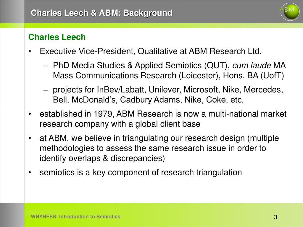 Charles Leech & ABM: Background