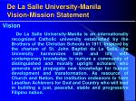 de la salle university manila vision mission statement