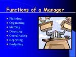 functions of a manager