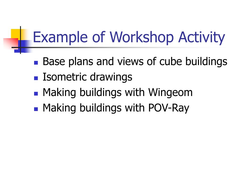 Example of Workshop Activity