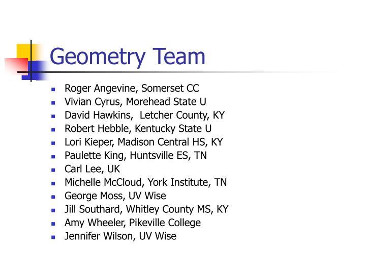 Geometry team