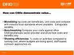 how can csos demonstrate value
