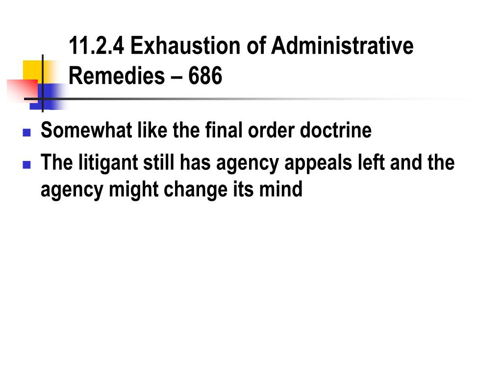 11.2.4 Exhaustion of Administrative Remedies – 686