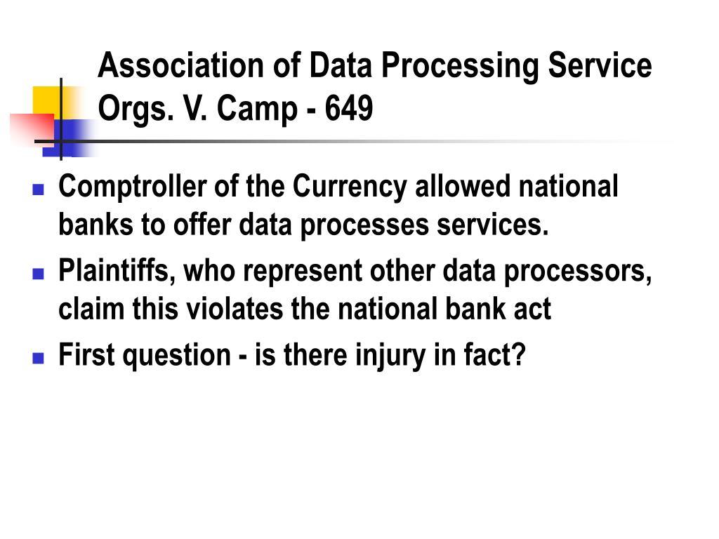 Association of Data Processing Service Orgs. V. Camp - 649