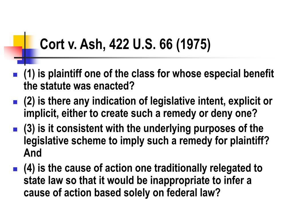 Cort v. Ash, 422 U.S. 66 (1975)