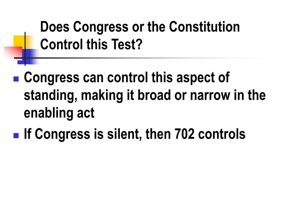 Does Congress or the Constitution Control this Test?