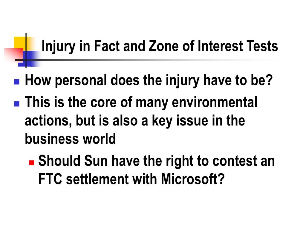 Injury in Fact and Zone of Interest Tests